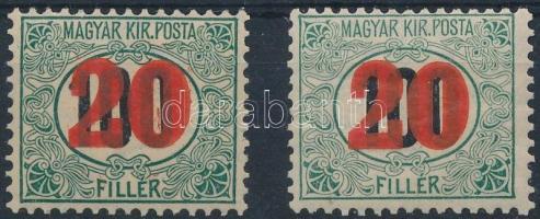 1915 2 klf Kisegítő Portó bélyeg, csillag a vízjelben (3.100)