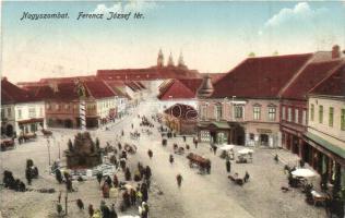 Nagyszombat, Trnava; Ferenc József tér / square