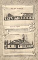 Sály, Református iskola és lelkészlak, Fried Dávid üzlete. Szilágyi Arthur műintézetéből, Art Nouveau (EK)