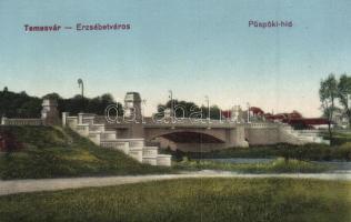 Temesvár, Timisoara; Erzsébetváros, püspöki híd / bridge