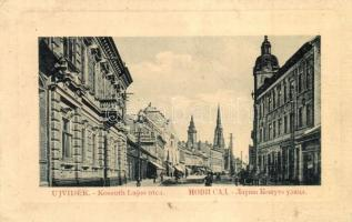 Újvidék, Novi Sad; Kossuth Lajos utca. W. L. Bp. 4240. / street view