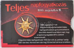 1999 Napfogyatkozás, 800 ft-os használatlan telfonkártya, bontatlan, tokkal