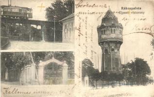 Budapest XV. Rákospalota, Újpesti víztorony, villamos vasúti híd (b)