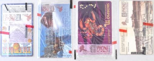 1995-1996 4 db bontatlan telefonkártya(csillagjegy, Budai vár, tél, reklám)
