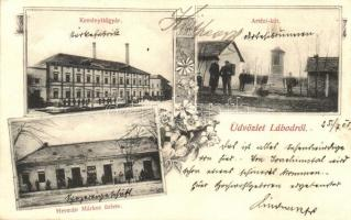 Lábod, Keményítőgyár, Artézi kút, Hermán Márkus üzlete, floral