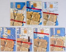 1995 7 db szigetek képek sorozatból származó telefonkártya, bontatlan csomagolásban