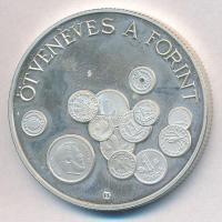 1996. 2000Ft Ag 50 éves a Forint T:1-(PP) Adamo EM144