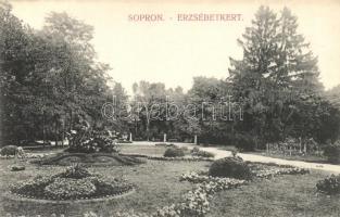 Sopron, Erzsébet kert, kiadja Monsberger Gottfried