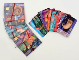 1995 Horoszkóp témájú telefonkártyák, 12 db bontatlan csomagolásban + 10 db használt
