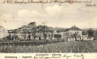 Segesvár, Sighisoara; Közkórház / Komitatsspital / hospital