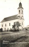 1942 Kisköre, Római katolikus templom, Hősök emlékoszlopa, photo (EK)