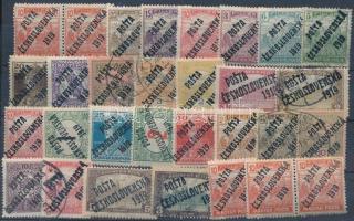 Posta Ceskoslovenska 1919 30 db bélyeg garancia nélkülk