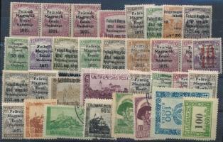 Nyugat-Magyarország 1921 33 db bélyeg garancia nélkül