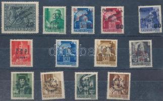 1945 11 klf helyi bélyeg (Zilah, Huszt, Ungvár...) garancia nélkül
