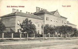 Budapest X. Gróf Andrássy laktanya, tiszti épület, kiadja Schaffer Ármin