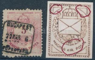 1874 5kr különféle erős kopással, lemezhibával
