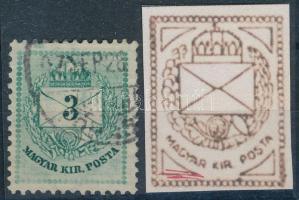 1881 3kr erős bal alsó lemezhibával