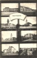 Battonya, Korona szálloda, Községháza, Polgári fiúiskola
