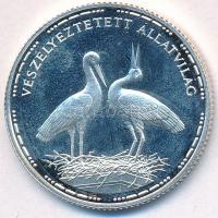 1992. 200Ft Ag Veszélyeztetett állatvilág - gólya T:1-(PP) kis patina Adamo EM126