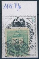 1881 3kr II. típus durva vésetjavítással