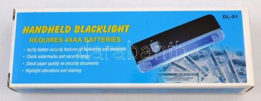 Papírpénzvizsgáló / UV lámpa, új állapotban eredeti dobozában