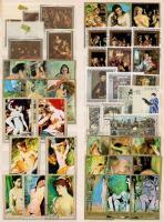 Kb. 114 db Festmény bélyeg 3 berakólapon