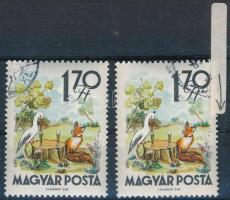 1961 Mese 1,70Ft hiányos virág a jobb oldalon, festék pötty a gólya fején és a fa felett + támpéldány