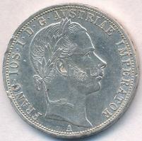 Ausztria 1861A 1Fl Ag Ferenc József T:2 ph.  Austria 1861A 1 Florin Ag Franz Joseph C:XF edge error Krause KM#2219