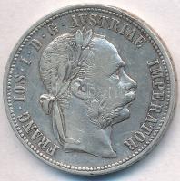 Ausztria 1879. 1Fl Ag Ferenc József T:2 ph. Austria 1879. 1 Florin Ag Franz Joseph C:XF edge error Krause KM#2222