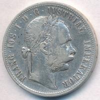 Ausztria 1879. 1Fl Ag Ferenc József T:2,2- Austria 1879. 1 Florin Ag Franz Joseph C:XF,VF Krause KM#2222
