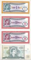 Szovjetunió/Oroszország 1989-1994. 4db Mavrodi bankjegy (1,10,10.000) T:I,I- Soviet Union/Russia 1989-1994. 4pcs of Mavrodi banknotes (1,10,10.000) C:UNC,AU