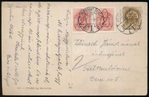 1941 Képeslap 2x2f Barnaportó bélyeggel