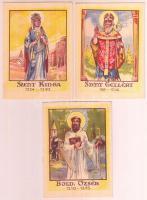 3 db magyar szenteket bemutató szentkép