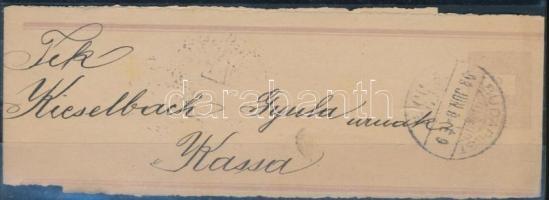 1898 2kr díjjegyes címszalag BUDAPEST - Kassa