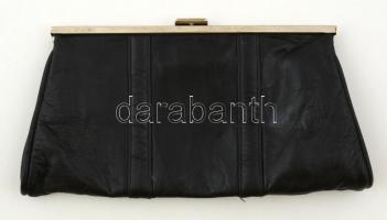 Retró bőr színházi táska, 15×30 cm