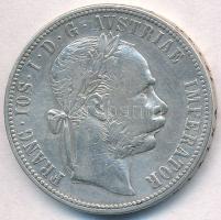Ausztria 1884. 1Fl Ag Ferenc József T:2,2- kis ph. Austria 1884. 1 Florin Ag Franz Joseph C:XF,VF small edge error Krause KM#2222
