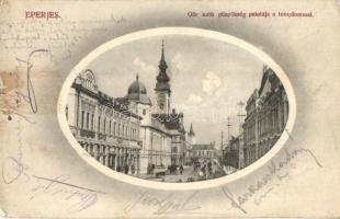 Eperjes, Presov; Görög katolikus püspökség palotája, Zavaczky Gyula üzlete. Divald Károly fia / bishops palace, shop