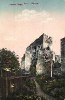 Léva, Levica; várrom / castle ruins, vissza So. Stpl