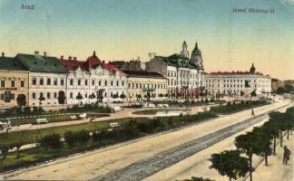 Arad, József főherceg út, bank / street, bank (EK)