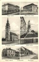 Tótkomlós, Polgári és állami elemi iskola, Komló szálloda, Hősök szobra