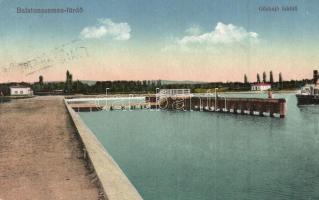 Balatonszemes-fürdő, gőzhajó kikötő