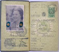 1938 Bp., A Magyar Királyság által kiállított fényképes útlevél, szlovák és csehszlovák vízummal / Hungarian passport