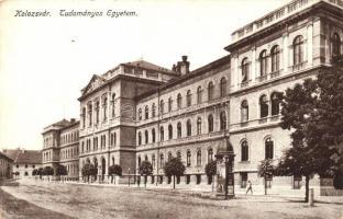 Kolozsvár, Cluj; Tudományos egyetem / university