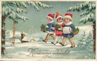 20 db RÉGI üdvözlőlap, vegyes minőség / 20 pre-1945 greeting cards, mixed quality