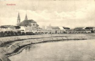 Komárom, Komárno; Látkép, folyópart / general view, river bank