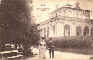 Arad, Baross park, Kioszk, Ifj. Klein Mór kiadása / park, kiosk (EK)