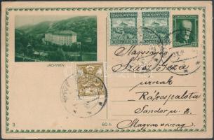 1922 Futott díjjegyes díjkiegészített levelezőlap