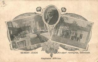 Debrecen, Kemény János Kis Pipa vendéglője, étterem belső. floral Art Nouveau (EB)