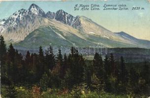 Tátralomnic, Lomnici csúcs / mountain peak (kopott sarkak / worn corners)
