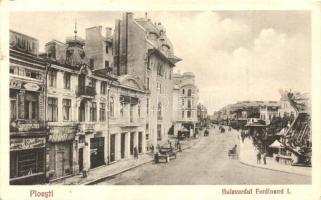 Ploiesti, Ploesti; Bulevardul Ferdinand I / boulevard, shops